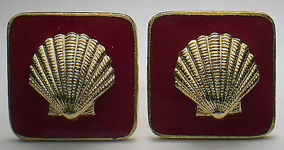 Old Vtg. SHELL Gas/Oil Co. executive employee service award cuff link set