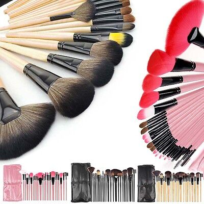 24Pcs Professional Make Up Brush Set Foundation Brushes Kabuki Makeup Brushes