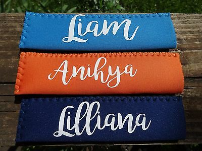Personalized Neoprene Popsicle Holder/Koozie! No More Cold Hands! Summer Time
