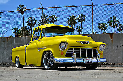 1955 Chevrolet Other Pickups 3100 short bed Cameo 1955 Chevrolet Truck 3100 VERY RARE CAMEO-late model frame, A/C, 350ci V8, TH350