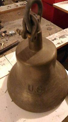 Bronze bell US  Victory or LIberty ship.    with clapper  great condition