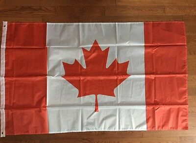 Large 3' x 5' Polyester Canadian Flag - Free Shipping