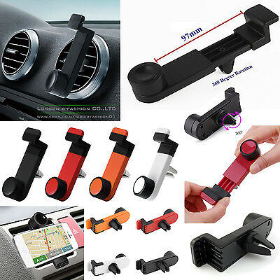 Mount Cradle Portable New GPS Navigation Car Mobile 360° Bracket Air Vent Holder