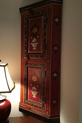 18th C. 1780's Swedish hand painted Pine cupboard exquisitely preserved.