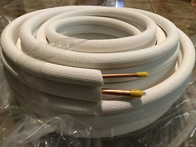 """50 Feet 1/4"""" X 1/2"""" Insulated  Copper Mini Split Ductless Line Set For AC"""