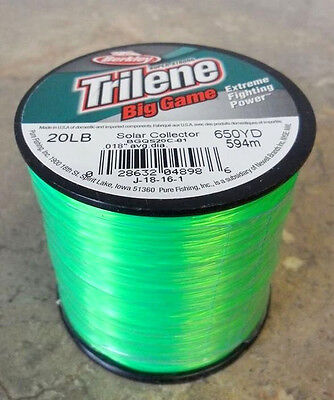 Berkley Trilene Big Game Mono Fishing Line, Solar Collector - 20lb - 650yds