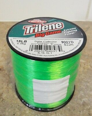 Berkley Trilene Big Game Mono Fishing Line, Solar Collector - 15lb - 900yds