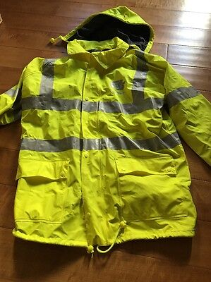 High Visibility Bomber Jacket - M Safe 75-1301 Class 3 Waterproof Size Large