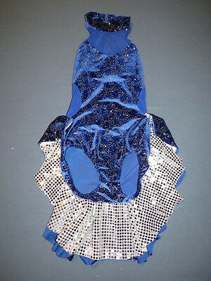 Leo's Blue Sequin & Rhinestone Dance Tap Halloween Costume Large Child