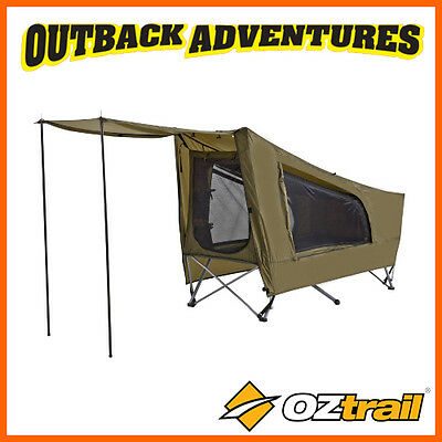 Oztrail Easy Fold Stretcher Tent Bed Swag Dome Instant Camp Cot New  Model