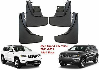 4pcs Front &Rear Mud Flaps For 2011-2017 Jeep Grand Cherokee Molded Splash Guard