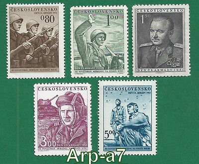 Czechoslovakia series of stamps MNH ** 1951 Army Day