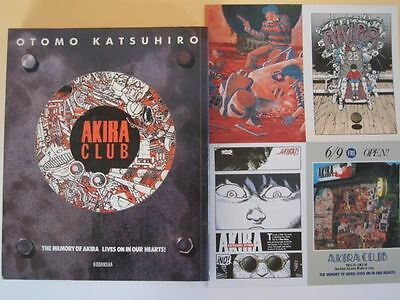 AKIRA CLUB Katsuhiro Otomo Illustration Art Book + Postcard Japanese Anime F/S