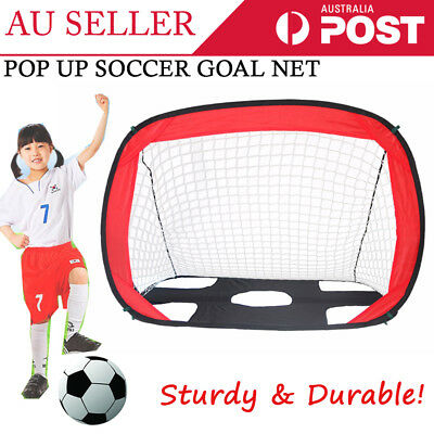 Portable Football Gate Soccer Goal Pop Up Net Kids Outdoor Play Training Toy