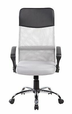Chair Office Desk Mesh Executive Computer Task Grey Black Swivel High Back PU