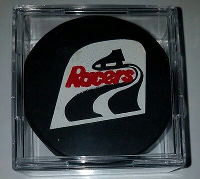 Indianapolis racers vintage WHA HOCKEY GAME PUCK MADE IN CANADA