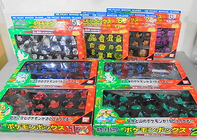 Rare BANDAI Pokemon Box Vintage Figure Red Green 151 kinds complete set 1996