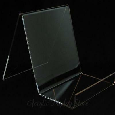 Acrylic Flat Deep Box Book Easel Display Stand - 5""