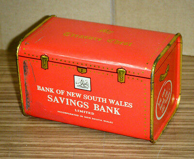Vintage Bank of New South Wales Treasure Chest Money Box