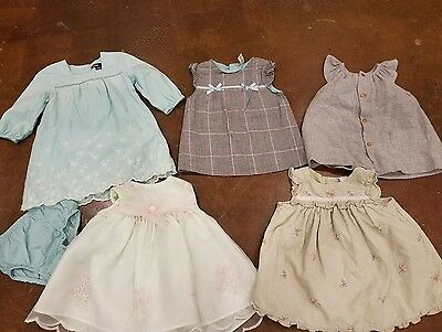 Lot Of 6 Baby Girl Clothes Zara Mini Collection Baby Gap