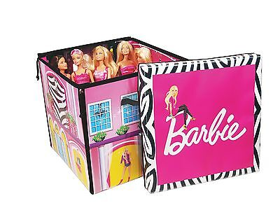 Barbie Doll Dream House Storage Play Decorated Rooms Pool Zipbin Girl Baby Toy