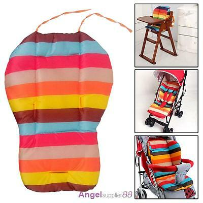 Rainbow Baby Kids Stroller Pram Pushchair Soft Car Seat Liner Pad Mat Cushion A