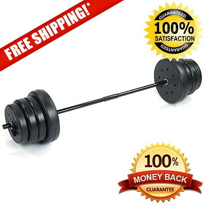 US Weight 100 lbs. Traditional Weight Set, Heavy-duty Bar, Adjustable Weight NEW