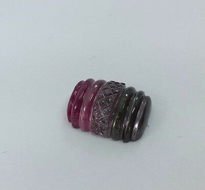 14.95 Cts Natural Tourmaline By Colour Gemstone Hand Carved Jgicv0021
