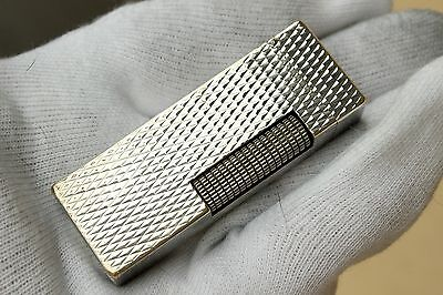 Lighter DUNHILL ROLLAGAS Silver Rhombus Finishing -From 70's - RARE!