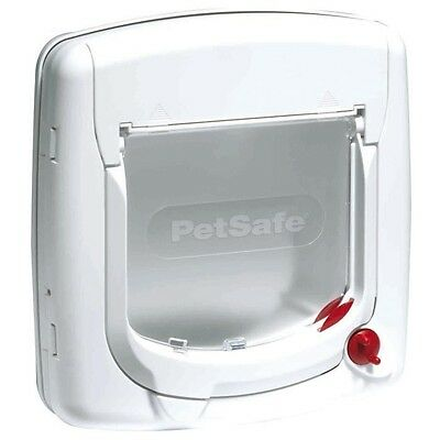 PETSAFE Porte Staywell Deluxe manuelle 4 positions - Blanc - Pour chat