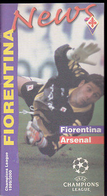 1999/2000 FIORENTINA V ARSENAL 14-09-1999 Champions League