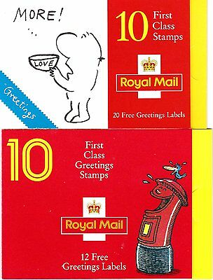 stamp booklets:  2 x 10 1st class stamps selling as face value in 2017