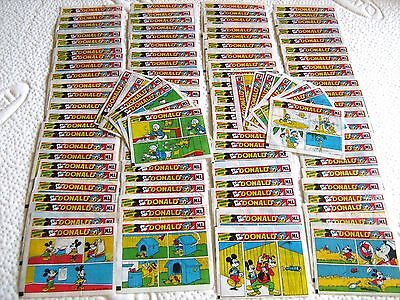 DONALD DUCK Orginal Bubble Gum Inserts Wrappers Wax FULL SET 108 Pcs Maple Leaf