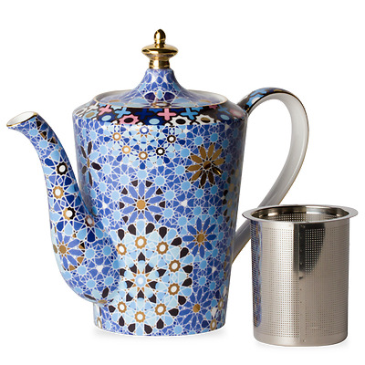 T2 Dazed and Dazzled Blue Teapot Medium
