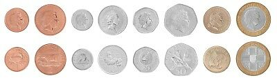 Guernsey 1 Penny to 2 Pounds, 8 Piece Full Coin Set, 1992 to 2012, Mint, QEII