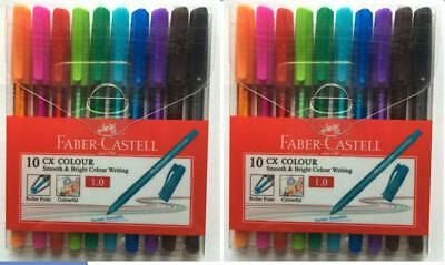 2 packs of New 10 Faber-Castell CX 1.0 Roller Point Pen w/ Water Resistant Ink