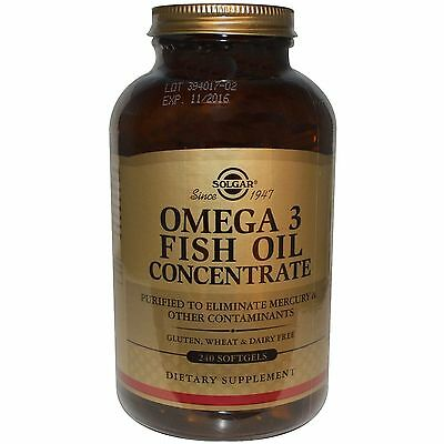 Solgar Omega 3 Fish Oil Concentrate 240 Softgels