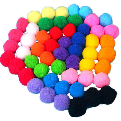 """Wholesale Assorted 1.8"""" Soft Small Cat Toy Balls Kitten Pompon Interactive Ball"""
