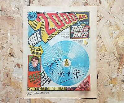 2000AD #1 - 1977 - signed by John Wagner, Alan Grant and Steve McManos