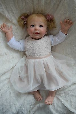 Reborn baby girl doll Lisa by Linde Scherer 22""