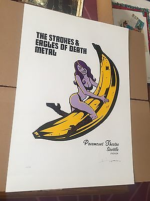 Strokes Eagles of Death Metal Justin Hampton S&N #148 Poster Print QOTSA