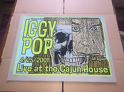 Iggy Pop Lindsey Kuhn Poster Print 2001 Rare Screened Signed & Numbered