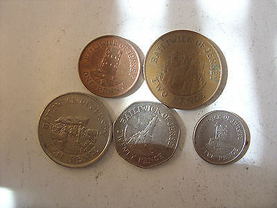 Lot Of 5 Bailiwick Of Jersey Coins 1/2/5/10 /20   Pence  !!!!!
