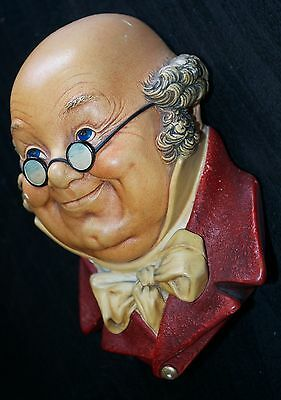 "Bossons ""MR PICKWICK"" Chalkware Character Head 1964"