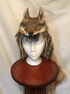 Genuine Coyote Mountain Man Fur Hat