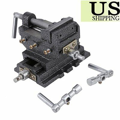 Usa 2 Way 3'' Drill Press X-Y Compound Vise Cross Slide Mill New Oy