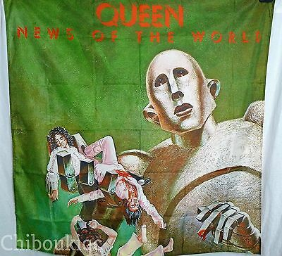 QUEEN News of the World HUGE 4X4 BANNER poster tapestry cd album