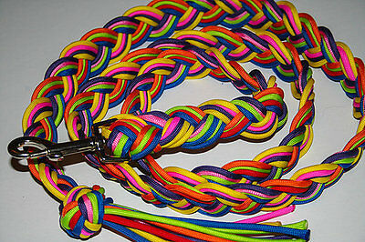 Rainbow Paracord Horse/Pony Lead Rope