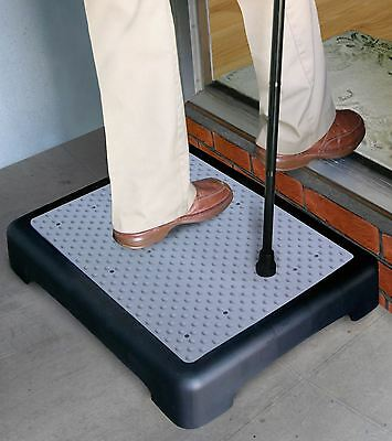 Anti-Slip Half Step Stool Elderly Disability Door Walking Mobility Aid Outdoor