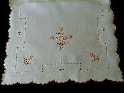 FAB Vintage MADEIRA Linen Nighty Case Boudoir Pillow Case Cover Hand Embroidered